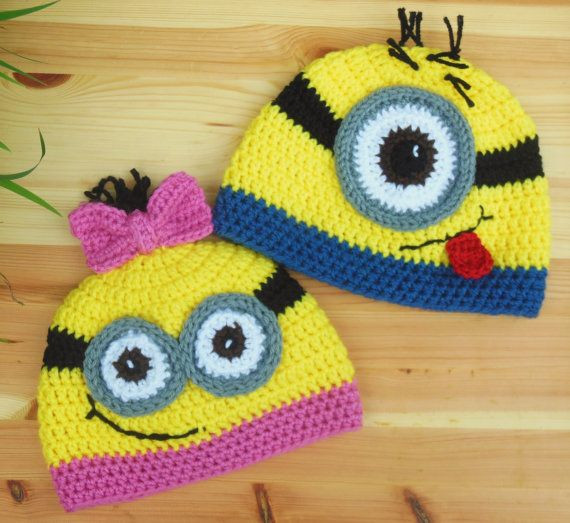 Unique Minion Hat Girls Crochet Minion Hat Yellow by Minion Crochet Pattern Of Lovely 46 Images Minion Crochet Pattern