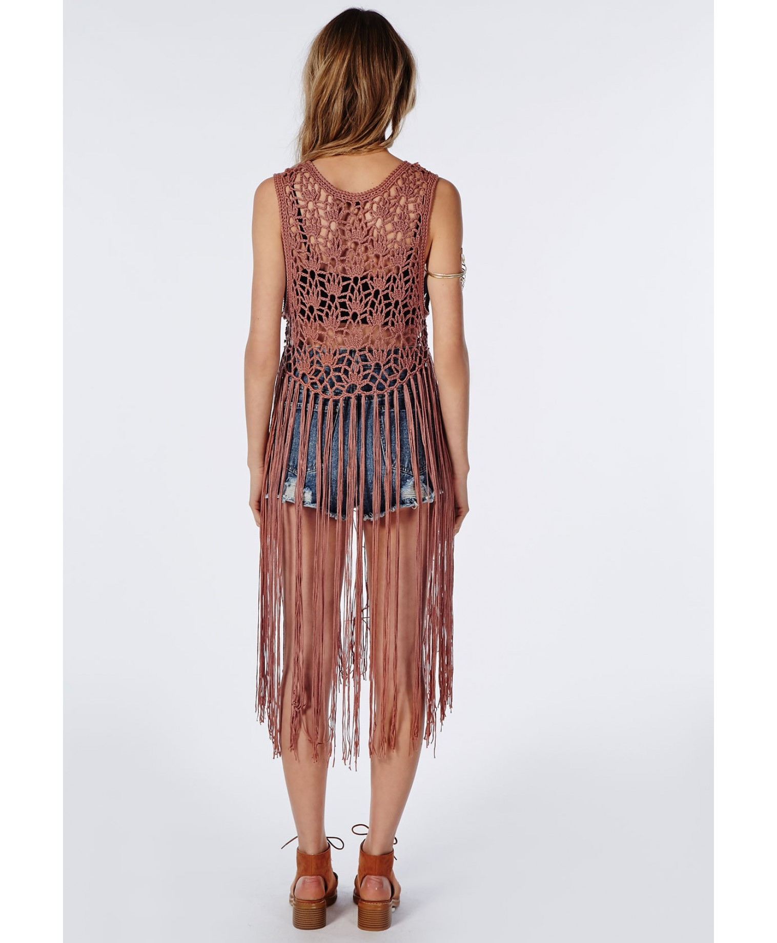 Unique Missguided Crochet Knitted Fringe Vest Rust In Brown Rust Crochet Vest with Fringe Pattern Of Brilliant 40 Images Crochet Vest with Fringe Pattern