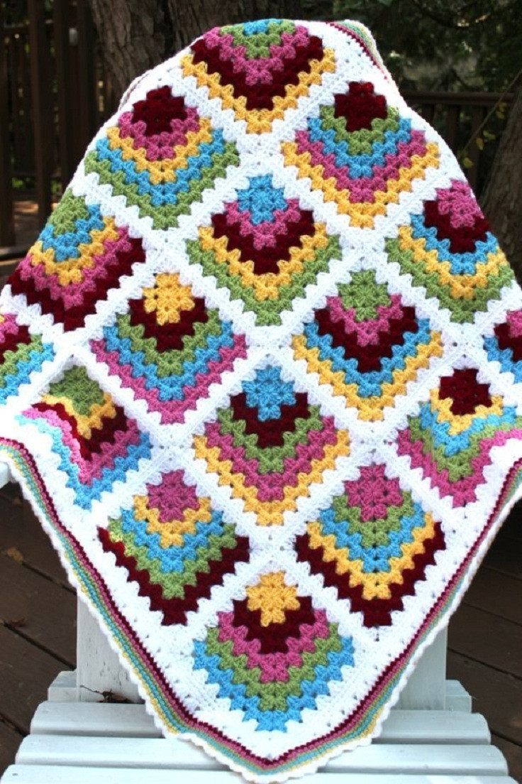 Unique Mitred Crochet Blanket – Granny Square – Free Crochet Free Crochet Granny Square Baby Blanket Patterns Of Contemporary 45 Pictures Free Crochet Granny Square Baby Blanket Patterns