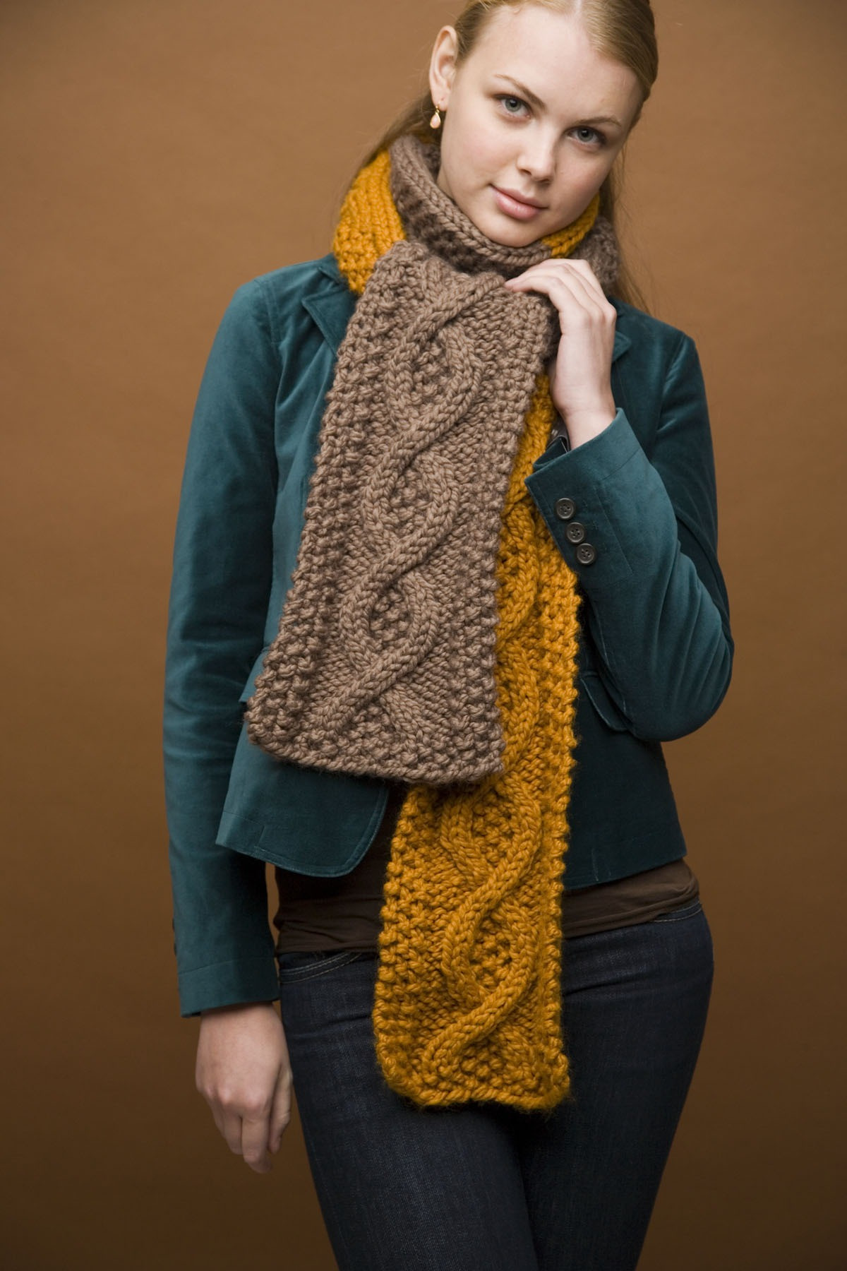 Unique Mixed Message Scarf In Lion Brand Wool Ease Thick & Quick Lion Brand Yarn Free Patterns Of Contemporary 45 Pics Lion Brand Yarn Free Patterns