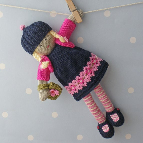 Naomi Hand knitted doll