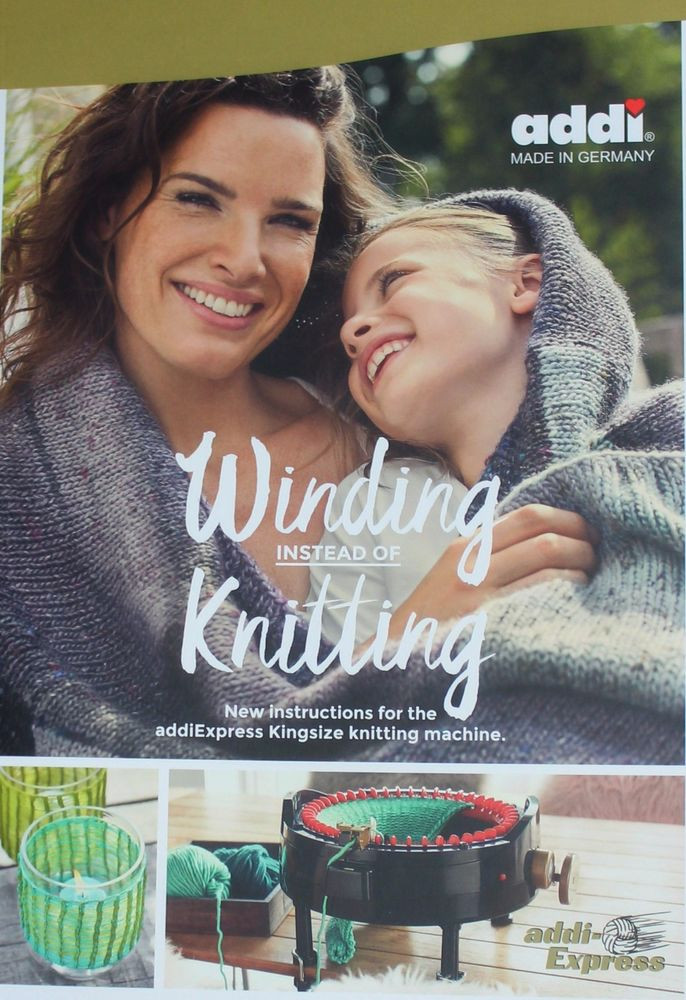 """NEW BOOK """" Winding instead of knitting"""" for Knitting"""