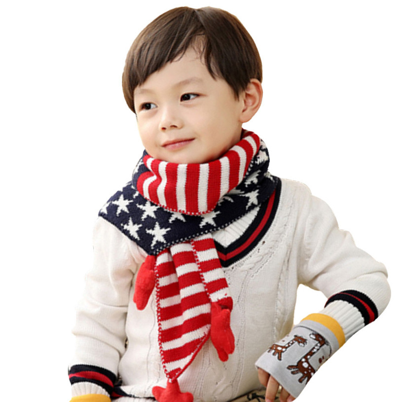 Unique New Brand 2015 Hot Children Kids Classical Winter Star Children's Scarves Of New 48 Pictures Children's Scarves