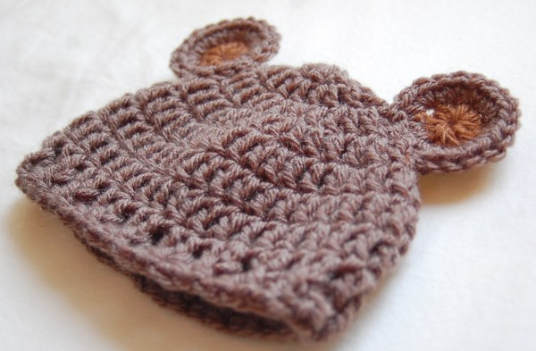 Unique Newborn Bear Hat Crochet Pattern & Crochet Baby Bear Hat Newborn Hat Pattern Of Great 46 Models Newborn Hat Pattern