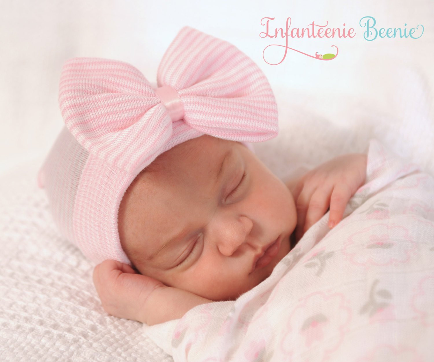 Unique Newborn Hospital Hat with Bow Baby Girl by Infanteeniebeenie Newborn Baby Beanies Of Contemporary 45 Pictures Newborn Baby Beanies