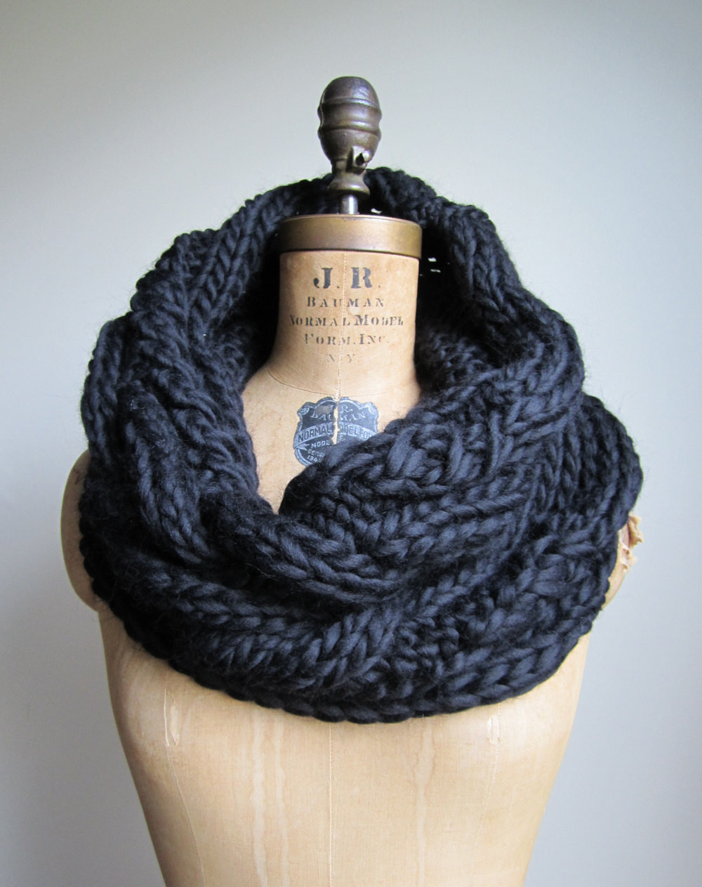 Unique Oversized Cable Knit Cowl Black Infinity Scarf by Happiknits Cable Knit Scarf Of Delightful 48 Ideas Cable Knit Scarf