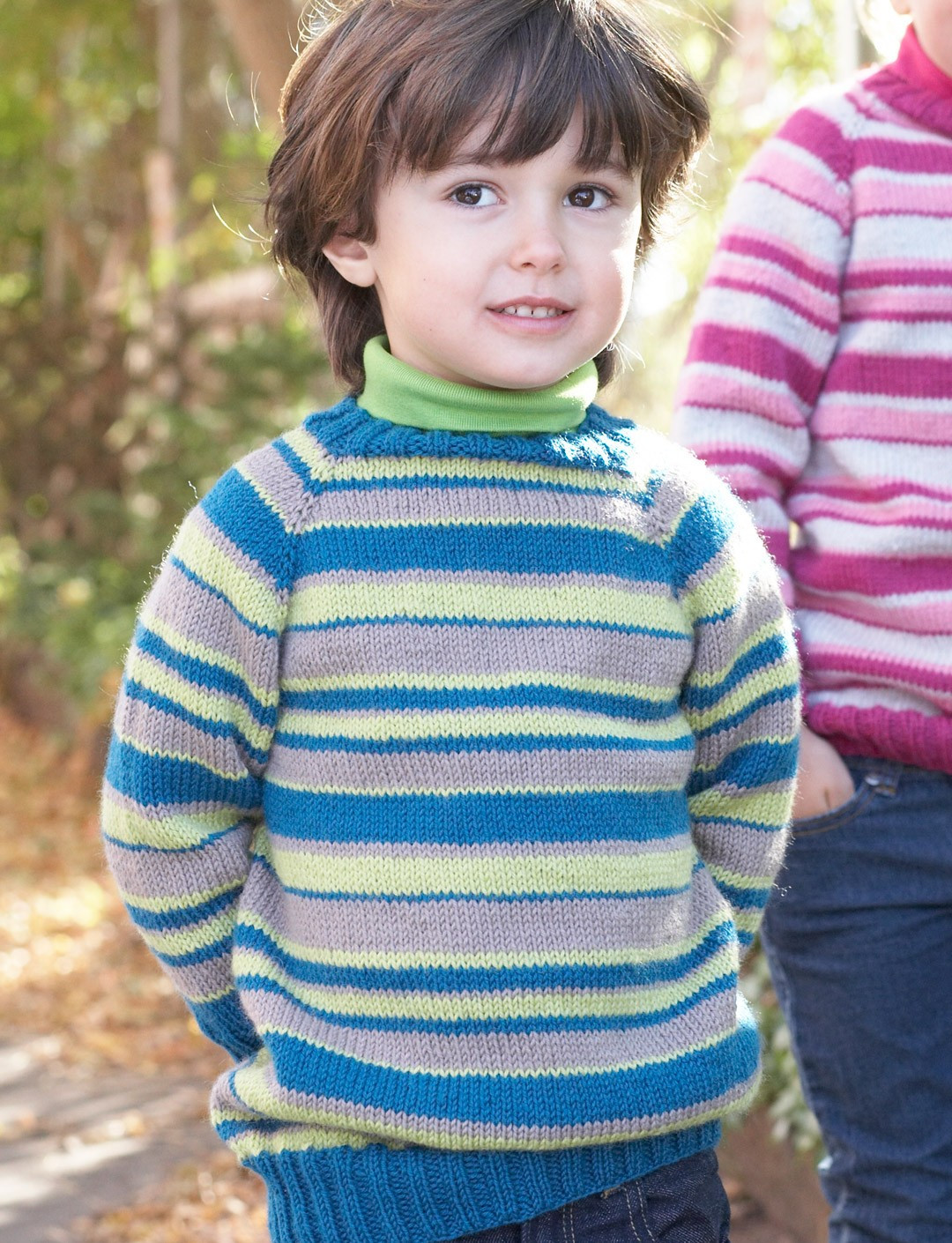 Unique Patons Kids top Down Striped Sweater Knit Pattern Knitting Patterns for Childrens Sweaters Of Charming 47 Models Knitting Patterns for Childrens Sweaters