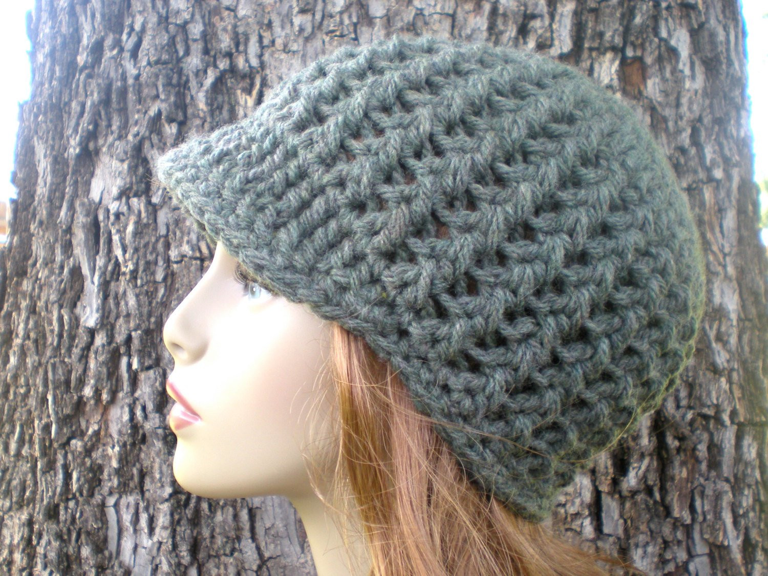 PATTERN Amsterdam Hat Easy crochet PDF Adult teen newsboy