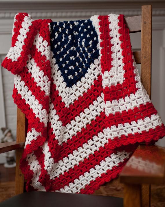 Unique Pattern for American Patriotic Flag Baby Blanket by American Flag Crochet Blanket Of Gorgeous 42 Ideas American Flag Crochet Blanket
