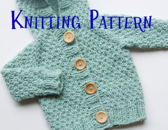 Unique Pdf Knitting Pattern Hooded Cardigan Infant Sweater Baby Baby Sweater Knitting Pattern Of Beautiful 48 Pictures Baby Sweater Knitting Pattern