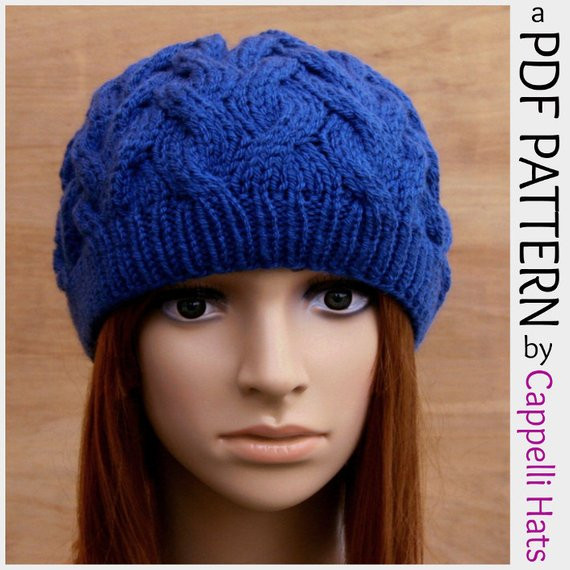 Unique Pdf Knitting Pattern Womens Cable Beanie Hat by Cappellihats Womens Knit Hat Patterns Of Fresh 42 Pictures Womens Knit Hat Patterns