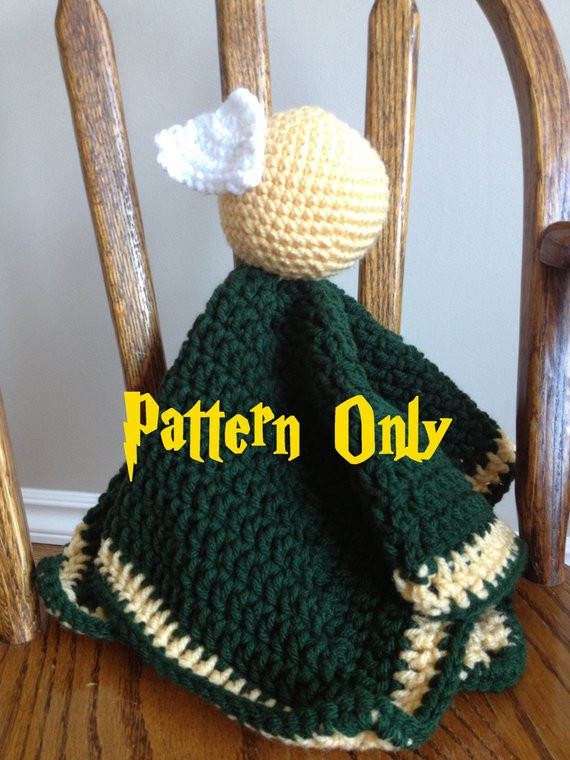 Unique Pdf Pattern Harry Potter Golden Snitch Lovey Security Harry Potter Crochet Blanket Of Luxury 42 Models Harry Potter Crochet Blanket
