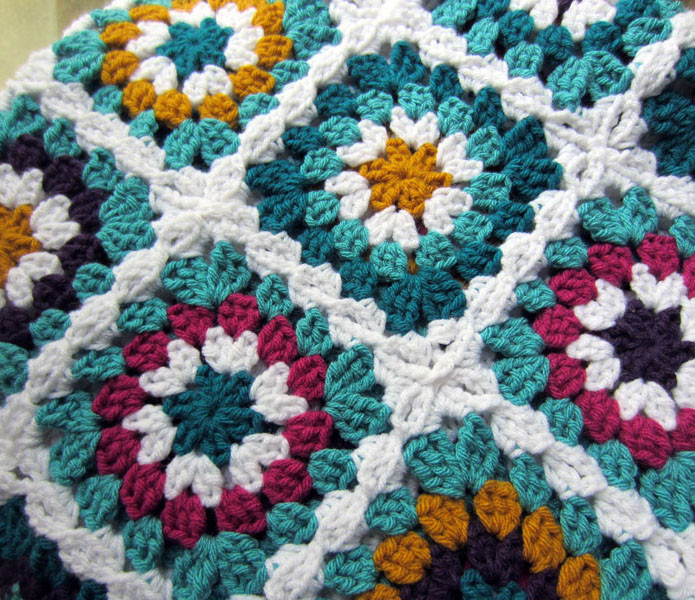 Unique Peaceofpi Studio Crochet Granny Square Flower Blanket Crochet Circle Blanket Pattern Of Brilliant 42 Pictures Crochet Circle Blanket Pattern