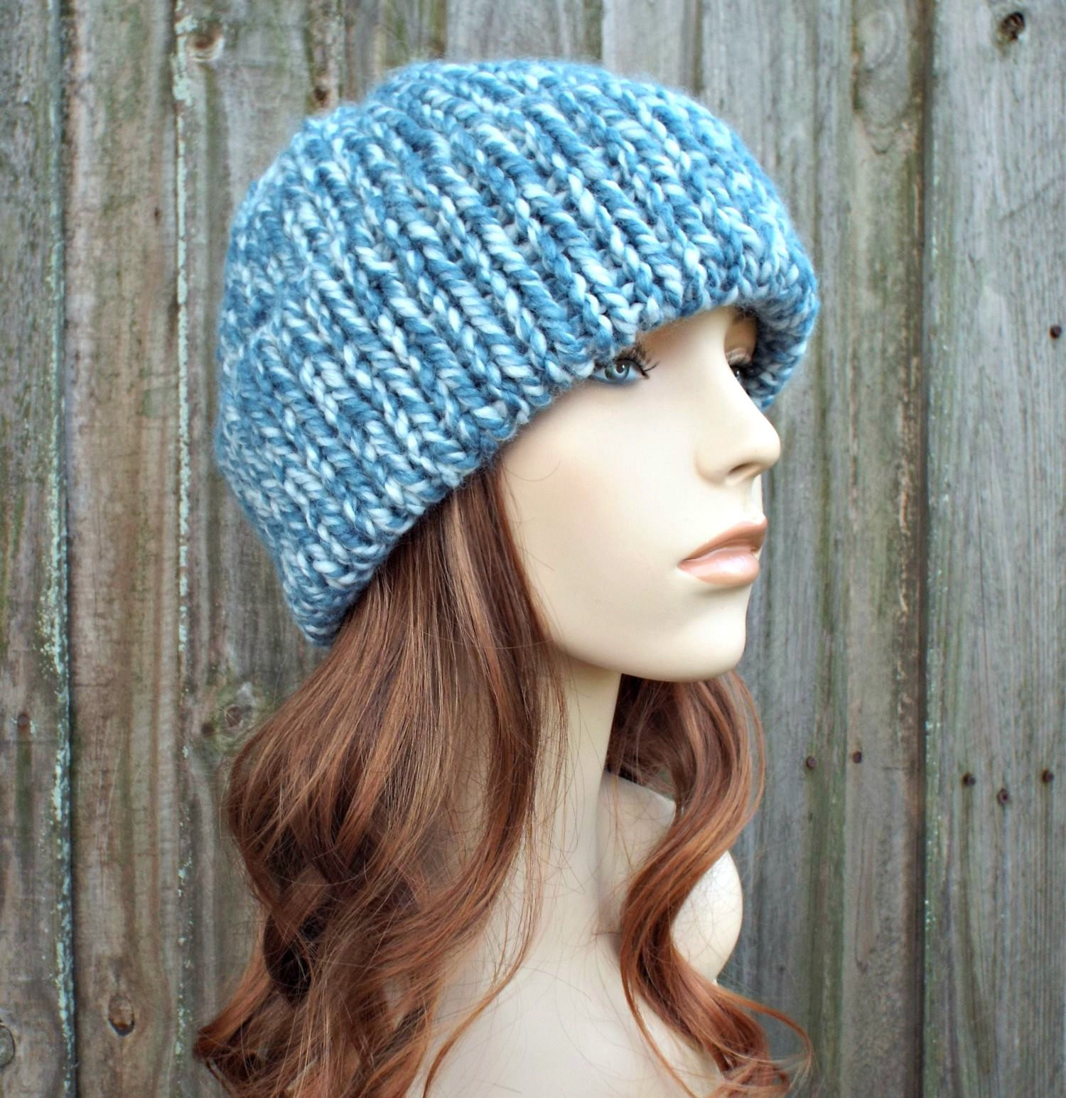 Unique Peppermint Blue Double Thick Brim Knit Hat Womens Hat Mens Hat Knit Hat with Brim Of Contemporary 48 Pictures Knit Hat with Brim