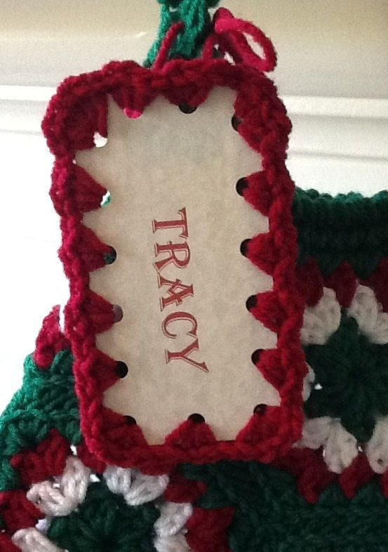 Unique Personalized Christmas Stocking Crochet Name Tag Custom Crochet Tags Of Unique 47 Models Crochet Tags