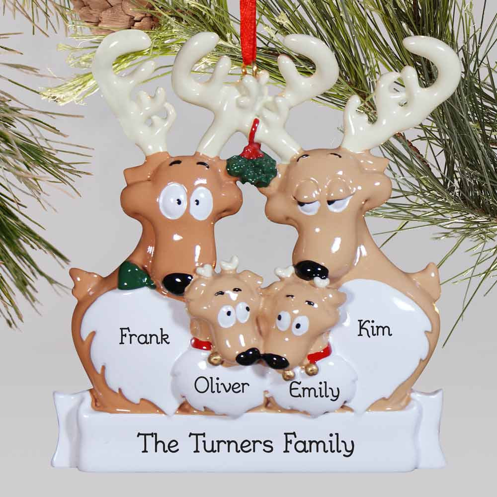 Unique Personalized Reindeer Family ornament Christmas Reindeer ornaments Of Adorable 44 Pictures Christmas Reindeer ornaments