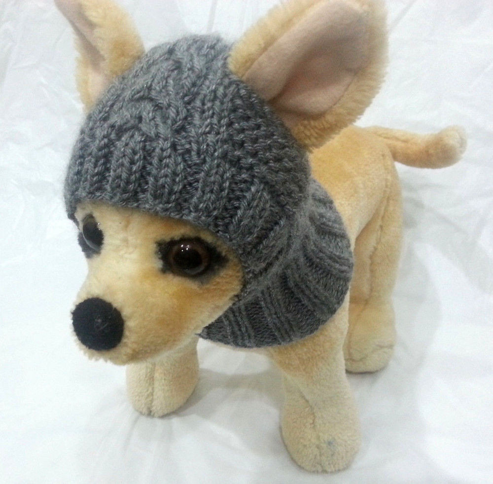 Unique Pet Clothes Apparel Outfit Handmade Knit Gray Hoody Snow Knitted Dog Hats Of Innovative 49 Images Knitted Dog Hats
