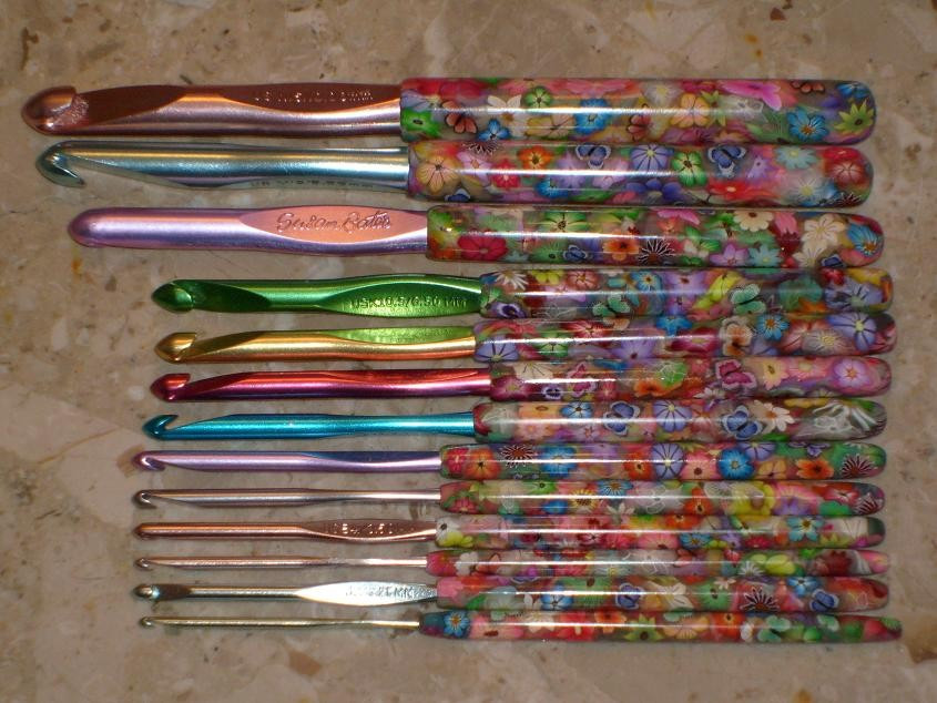 Polymer Clay Covered Crochet Hook Set a photo on Flickriver