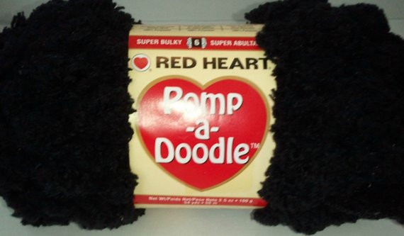 Unique Pomp A Doodle Yarn Red Heart 3 5 Ounces 54 Yards Black Jet Pomp A Doodle Yarn Of Charming 42 Pics Pomp A Doodle Yarn