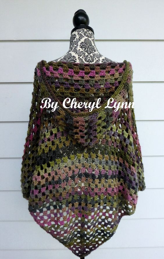 Unique Poncho Moda Boho and Uncinetto On Pinterest Crochet Poncho with Hood Of Fresh 40 Pictures Crochet Poncho with Hood