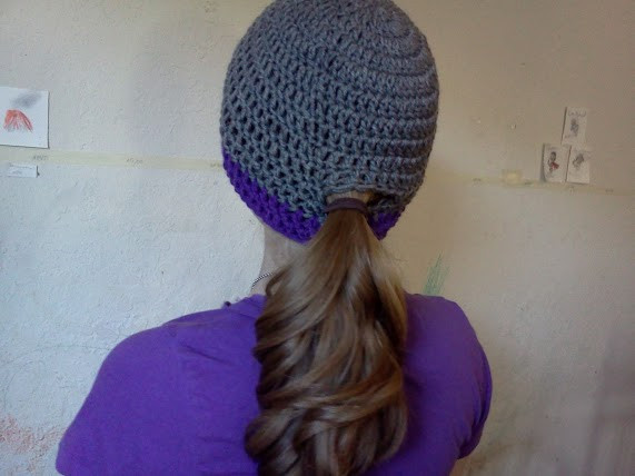 Ponytail crocheted hats