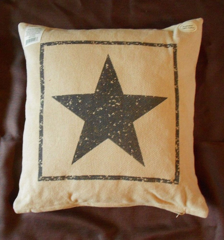 Unique Primitive Black Star Cotton Burlap Decorative Throw Pillow Patterned Throw Of Amazing 40 Photos Patterned Throw