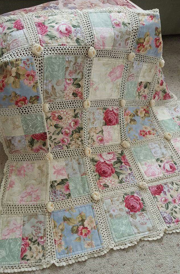 Unique Quilt Squares Mixed with Crochet Sew Sweet Crochet and Fabric Quilt Of Top 45 Models Crochet and Fabric Quilt