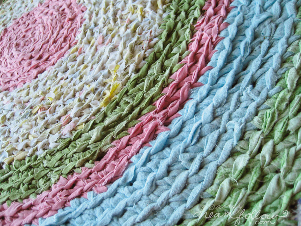 rag rug up close