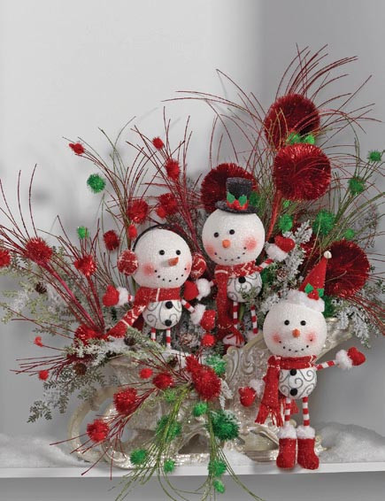 Unique Raz 2013 Holiday On Ice Decorating Ideas and Inspiration Christmas Snowman Decorations Of Adorable 41 Models Christmas Snowman Decorations