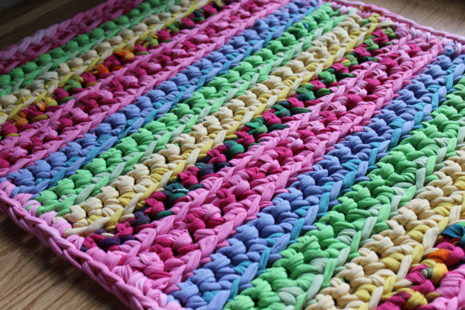 Unique Rectangular 20×40 Pink Lovers Multicolored Rag Rug by Esterap Crochet Rug Yarn Of Fresh 45 Images Crochet Rug Yarn
