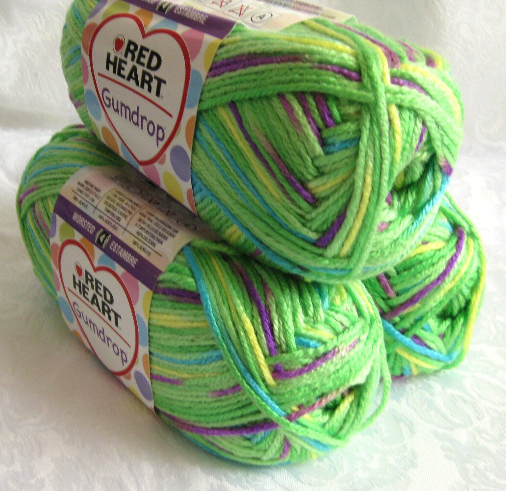 Unique Red Heart Gumdrop Yarn Apple Green Worsted Weight by Red Heart Gumdrop Of Gorgeous 35 Images Red Heart Gumdrop