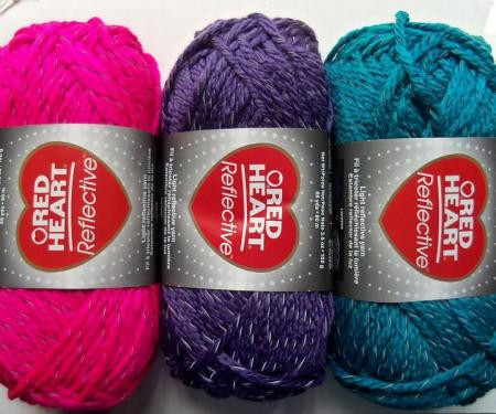 Red Heart Reflective Yarn 3 5 Oz Choose From A Variety