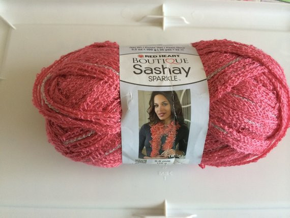Unique Red Heart Sashay Sparkle Ruffle Yarn by Crochetbemine On Etsy Red Heart Sparkle Yarn Of Top 49 Pics Red Heart Sparkle Yarn