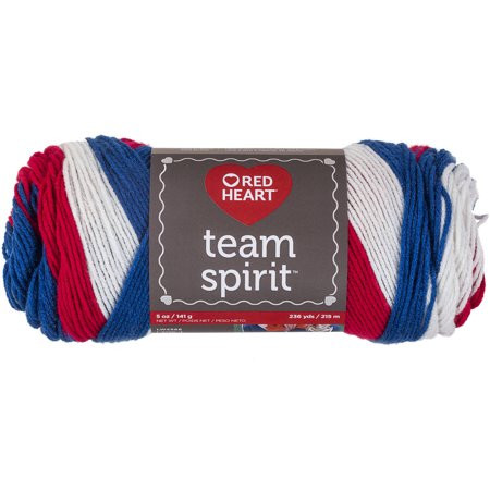 Red Heart Team Spirit Yarn Available in Multiple Colors