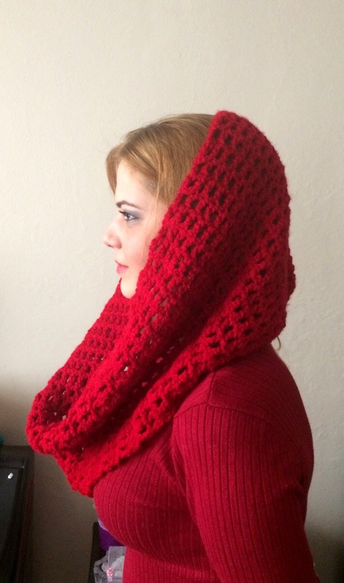 Unique Red Knit Infinity Scarf Red Circle Scarf Crochet Scarf Winter Knit Circle Scarf Of Brilliant 47 Photos Knit Circle Scarf