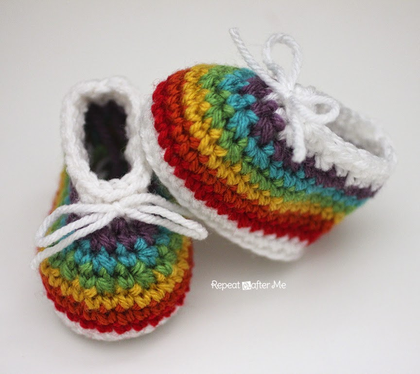 Unique Repeat Crafter Me Crochet Rainbow Baby Booties Made with Crochet Rainbow Pattern Of Wonderful 45 Images Crochet Rainbow Pattern
