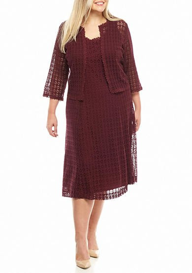Unique Robbie Bee Plus Size Crochet Lace Jacket Dress Plus Size Crochet Dress Of Attractive 46 Ideas Plus Size Crochet Dress