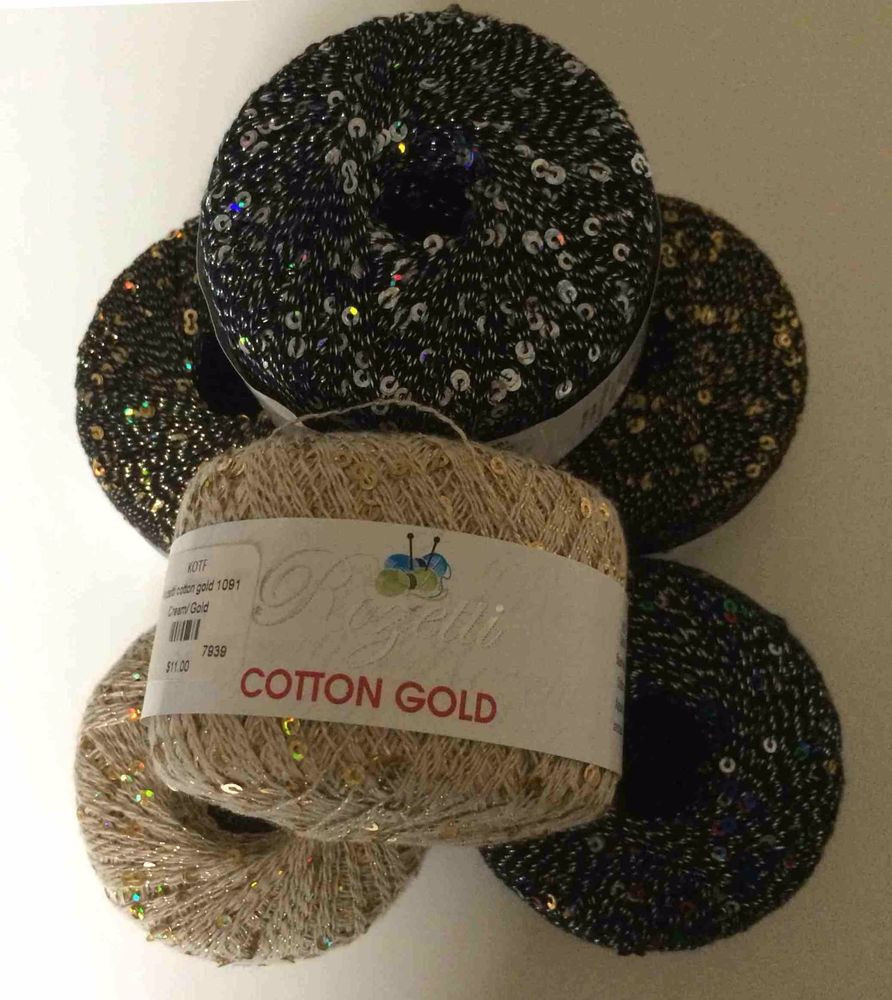 Unique Rozetti Cotton Gold Yarn Cotton Thread Strung with Sequins Yarn Sale Clearance Of Gorgeous 50 Models Yarn Sale Clearance