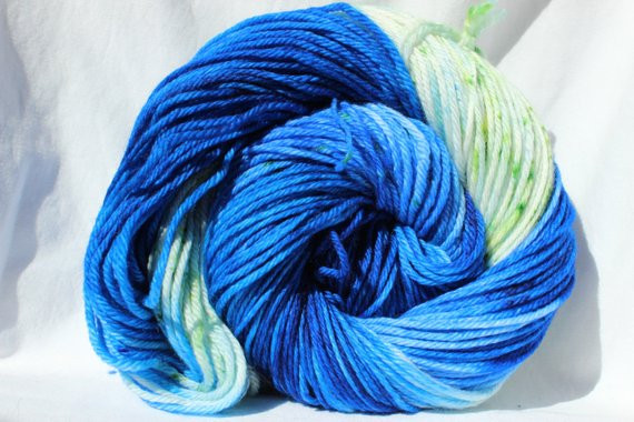 Unique Rts Hand Dyed Yarn Blue Green White Yarn Speckled Green Variegated Yarn Of Beautiful 50 Pics Green Variegated Yarn