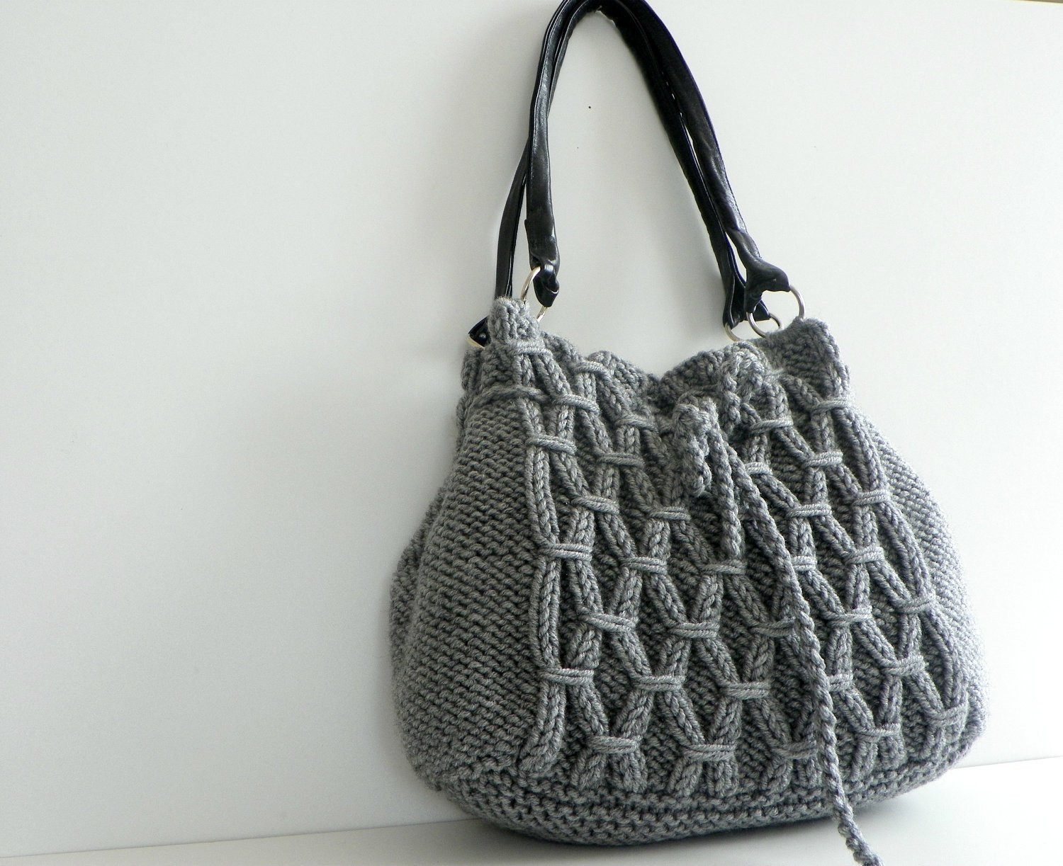 Unique Sale Off Nzlbags New Gray Knit Bag Handbag Shoulder Knitted Purse Of Amazing 41 Pics Knitted Purse