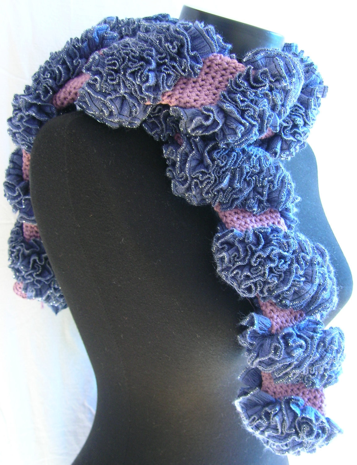 Unique Salsa Spiral Ruffle Scarf A Tubular Crocheted Scarf original Crochet Ruffle Scarf Of Inspirational Firehawke Hooks and Needles Free Pattern Ruffle Scarf Crochet Ruffle Scarf