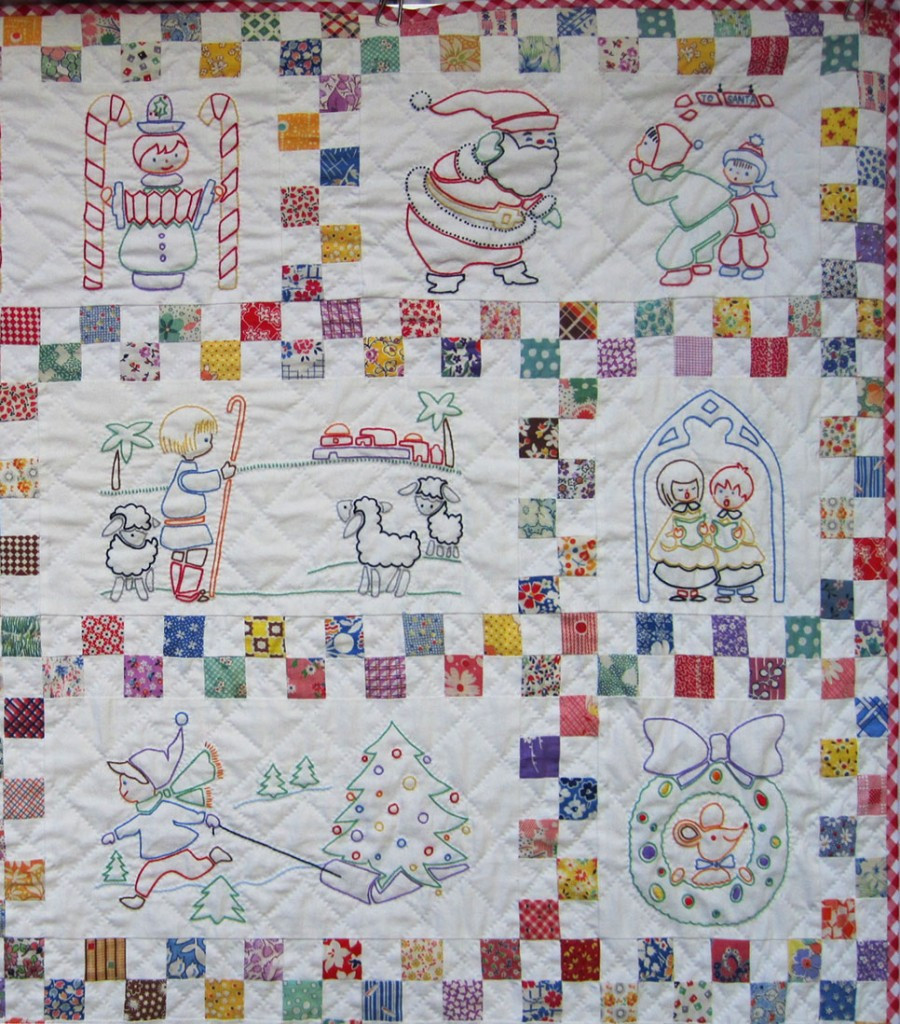 Unique Santa's Follow the Colors Embroidered Quilt – Finished – Q Embroidery Quilt Patterns Of Contemporary 50 Pictures Embroidery Quilt Patterns