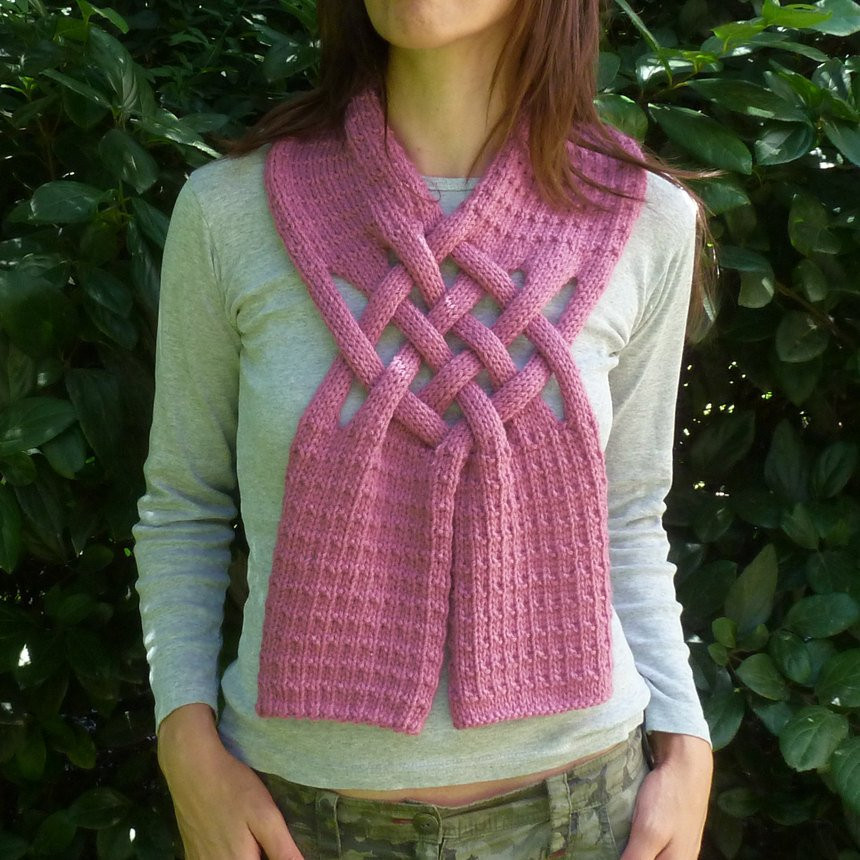 Scarf Knitting Pattern Weave PDF ebook how to easy Knit