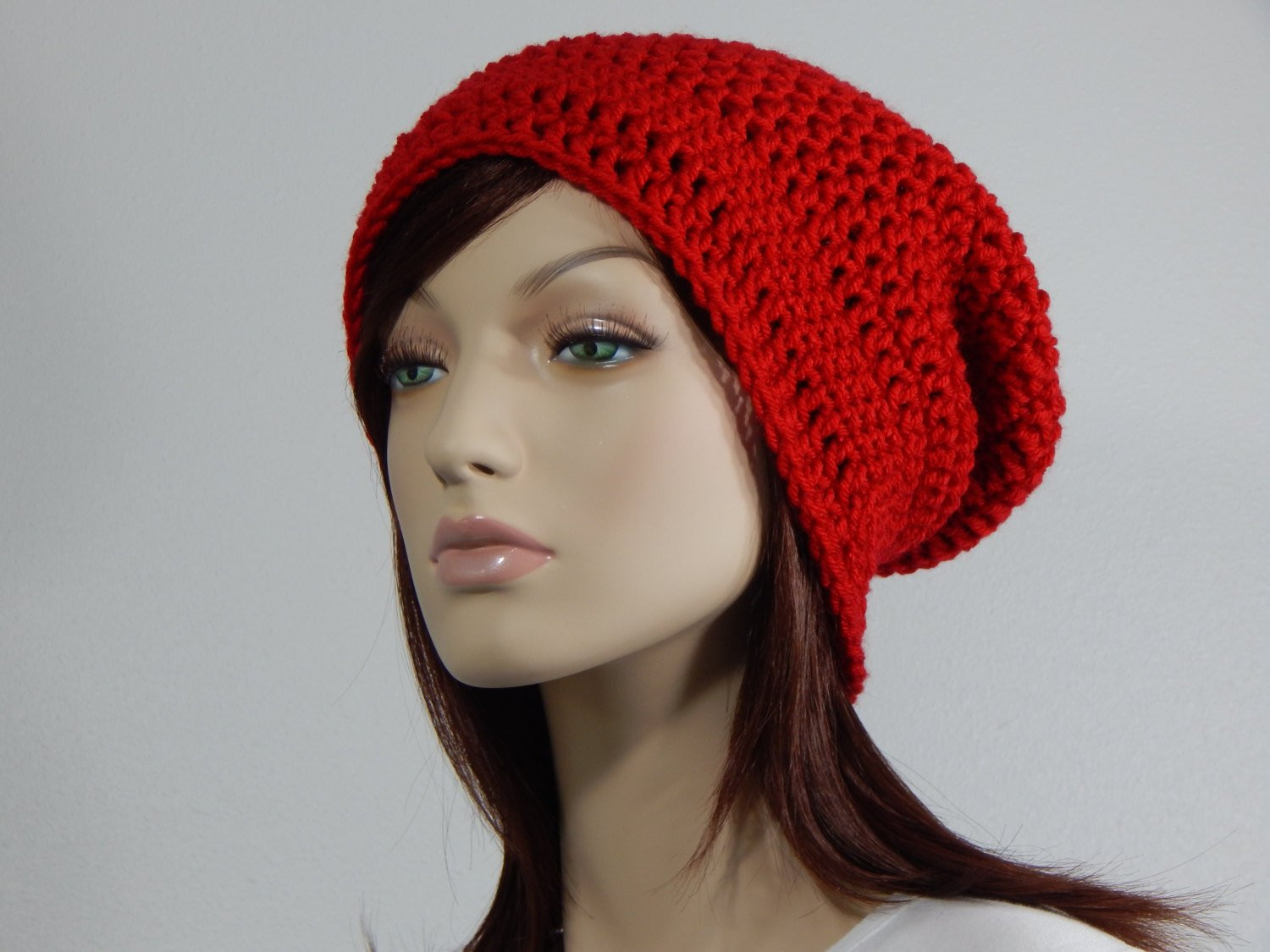 Unique Scarlet Red Slouch Hat Red Slouchy Beanie Red Womens Hat Red Slouchy Beanie Of New 50 Models Red Slouchy Beanie