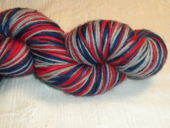 Self striping sock yarn Team Colors Edition New England