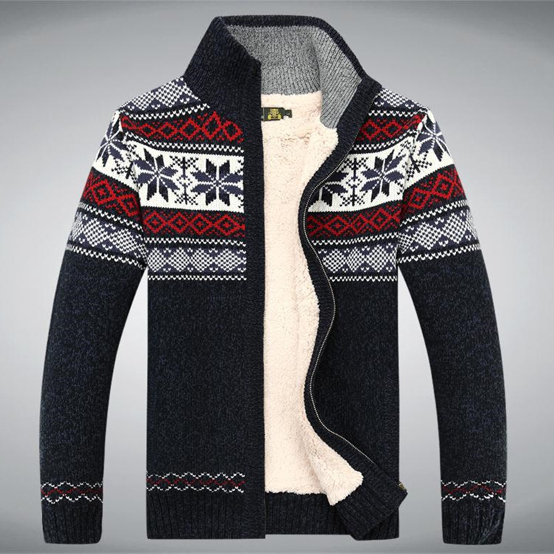 Unique Size S 3xl Cotton 2015 New Thicken Fleece Sweater Men Mens Patterned Cardigan Of Charming 50 Models Mens Patterned Cardigan