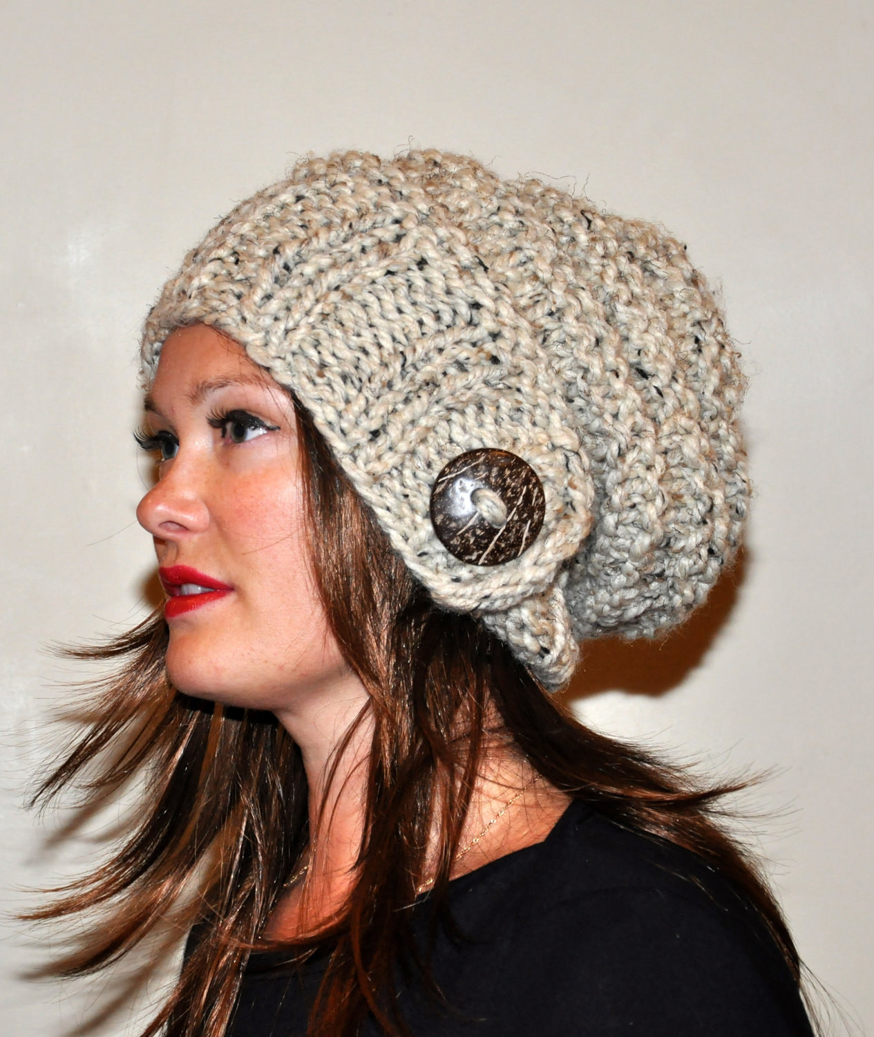 Unique Slouch Hat Slouchy Beanie Wool button Hand Knit Winter Slouchy Winter Hat Of Top 47 Models Slouchy Winter Hat