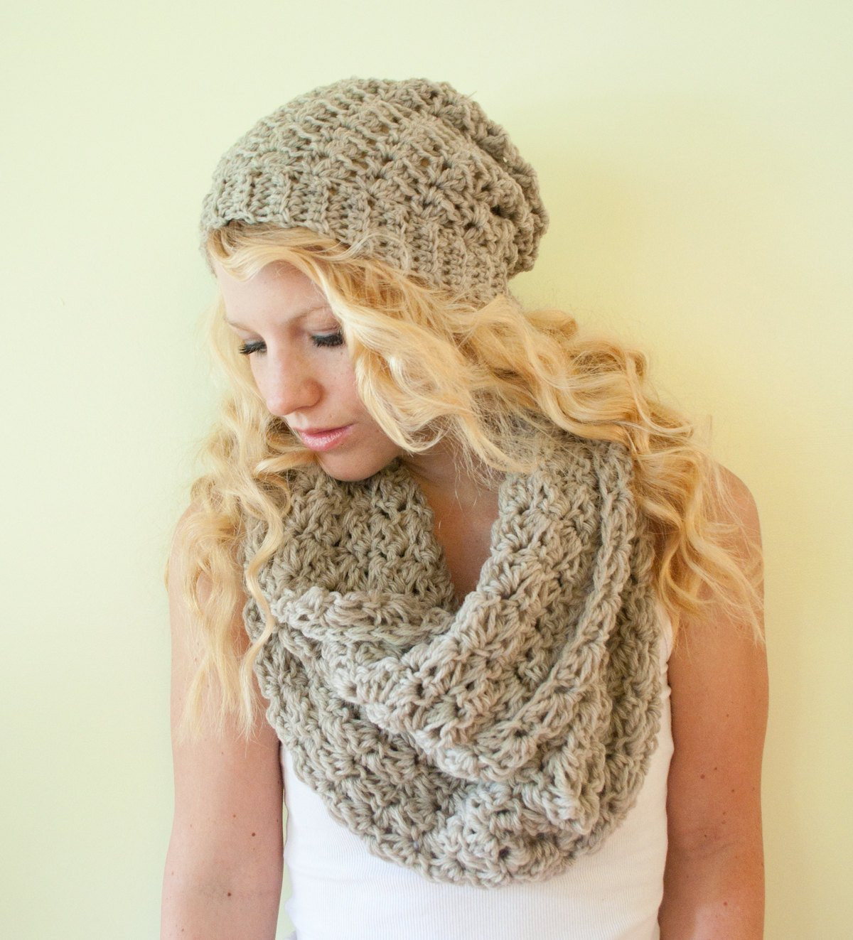 Unique Slouchy Hat Beanie Crocheted Oatmeal Wool by Autumnandindigo Crochet Hat and Scarf Of Superb 50 Pics Crochet Hat and Scarf