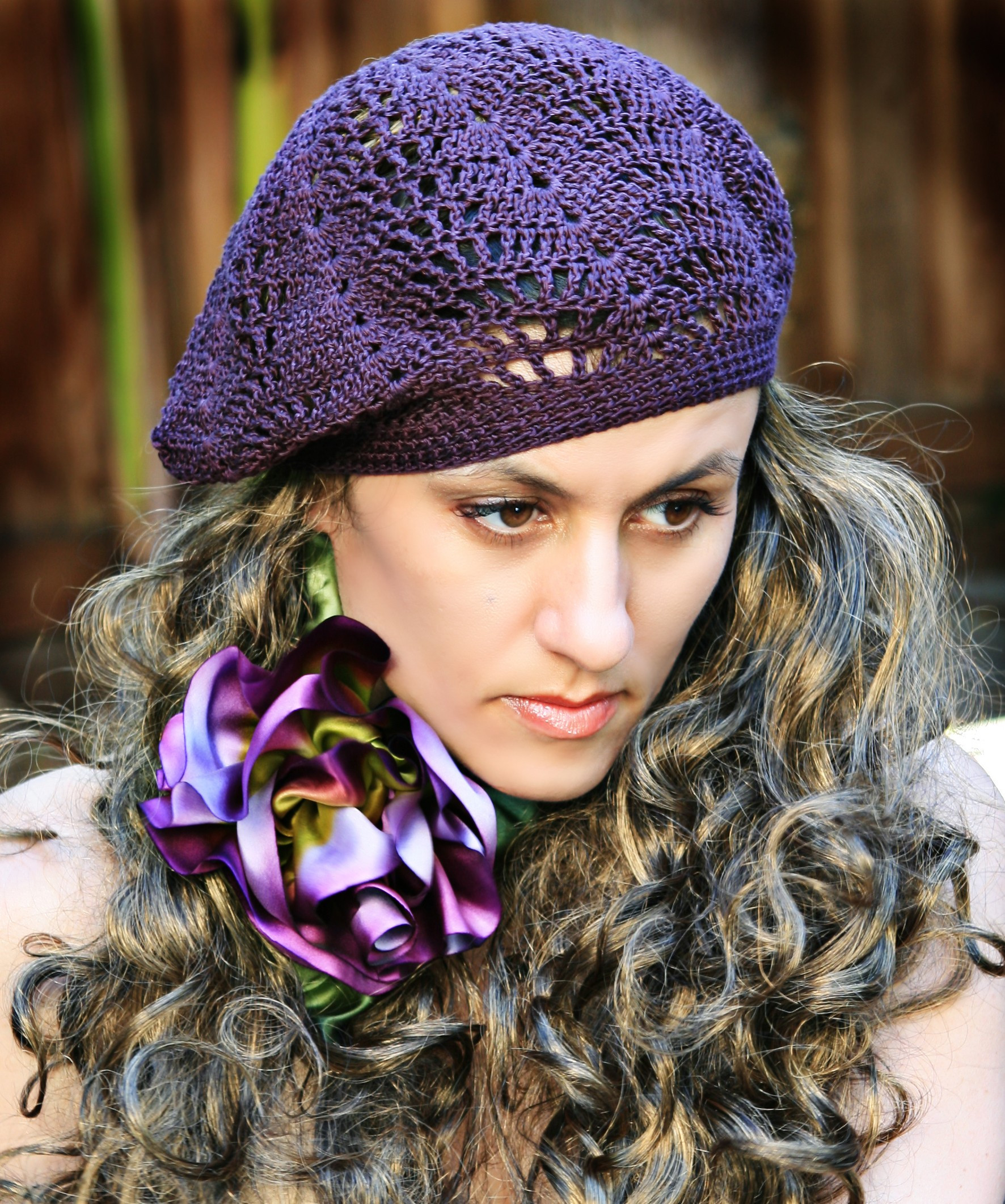 Slouchy Lace Berets Pattern for Knit & Crochet