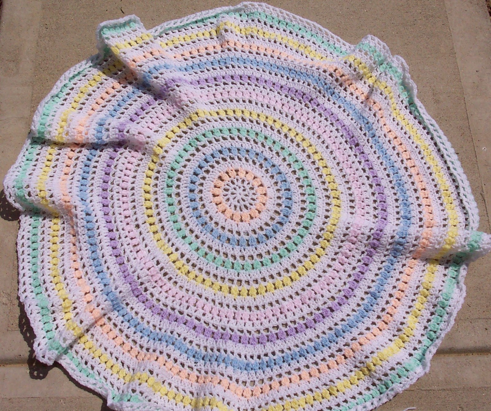 Unique Smoothfox Crochet and Knit Smoothfox S Spring Circle Crochet Round Baby Blanket Of Luxury 42 Ideas Crochet Round Baby Blanket